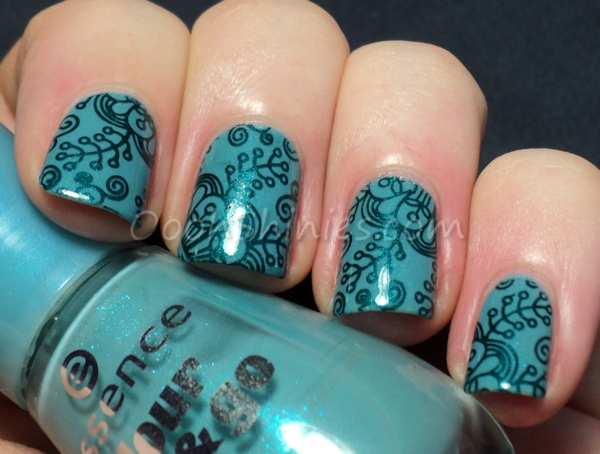 Essence I Love Bad Boys with China Glaze Tongue & Chic and BornPrettyStore QA61