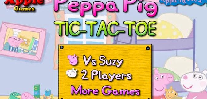 Peppa Pig tic tac toe free fun game games jigsaw puzzle