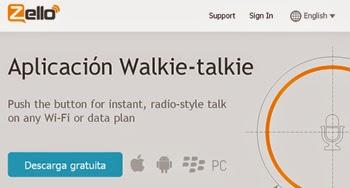 Habla por Walkie Talkie desde tu telefono movil con Zello