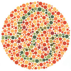 Prueba de daltonismo - Carta de Ishihara 34