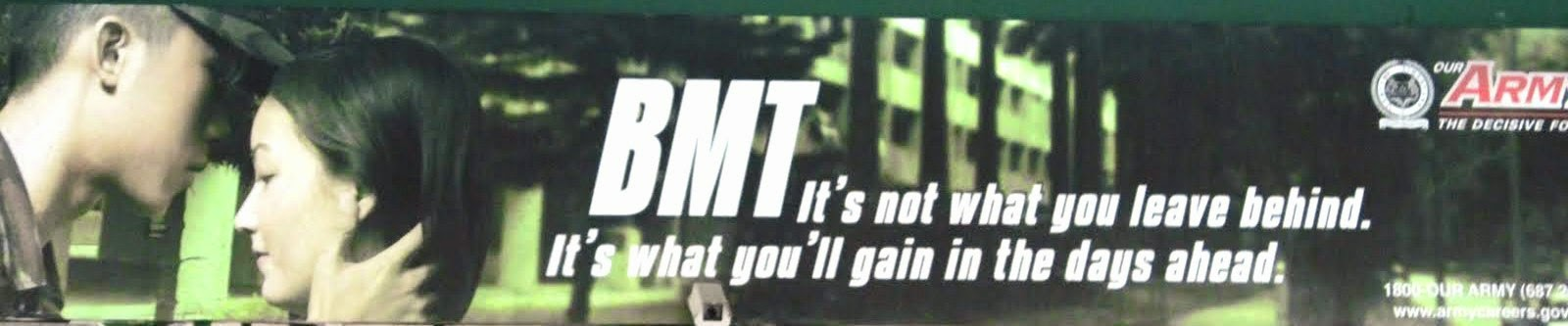 BMT is not what you leave behind. It's what you'll gain in the days ahead.