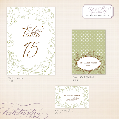 spring floral green wedding reception printable diy