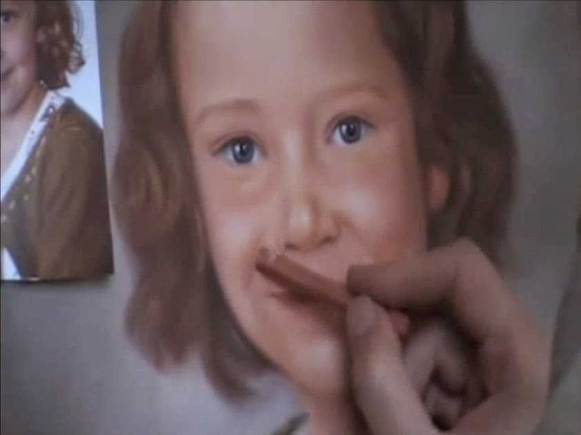 Nicky Nikolov's YouTube film: Drawing a Girl Portrait in Soft Pastel