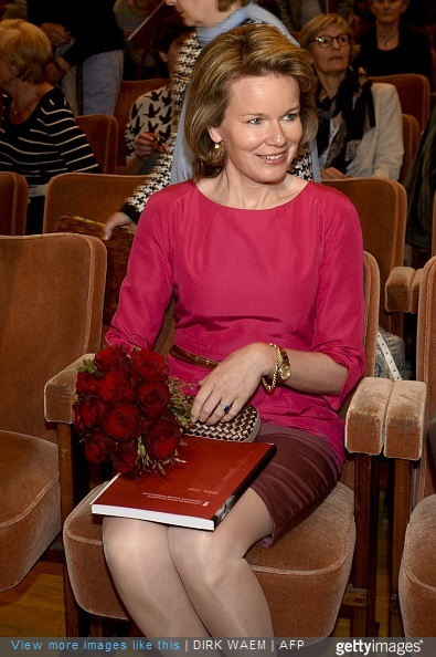 Queen Mathilde of Belgium attends the first session of the first round of the Queen Elisabeth Violin Competition 2015 at the Brussels' Flagey, on May 4, 2015.