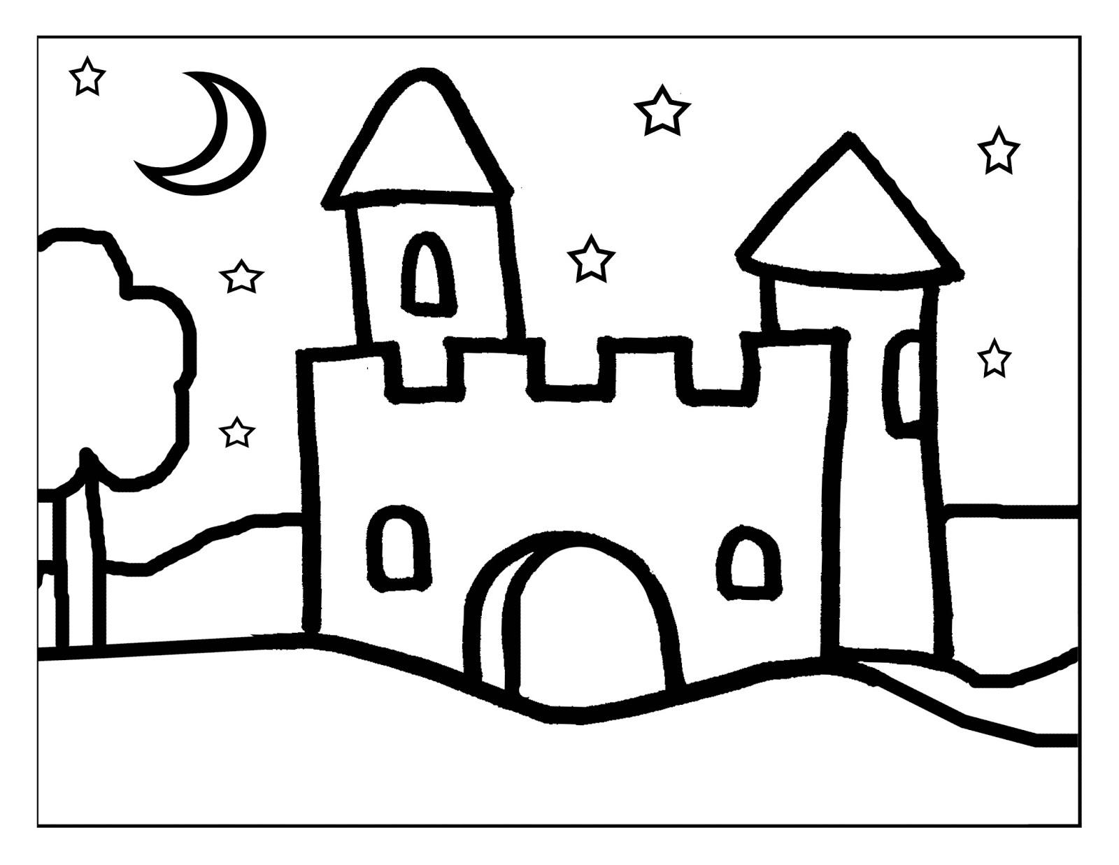 Excelente Páginas Para Colorear De Castillos Imagen - Dibujos Para ...