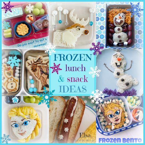 Disney Frozen Lunch & Snack Ideas from Bento Bloggers & Friends