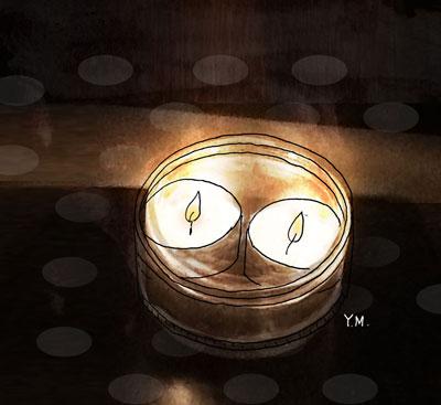 candle lights by Yukié Matsushita