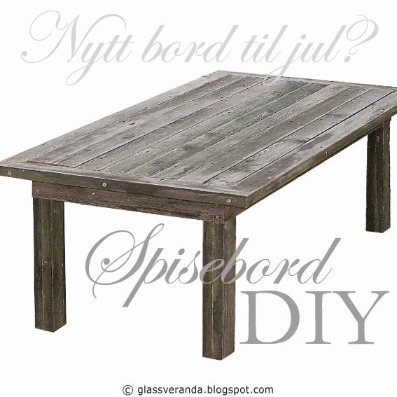 Bygge eget spisebord