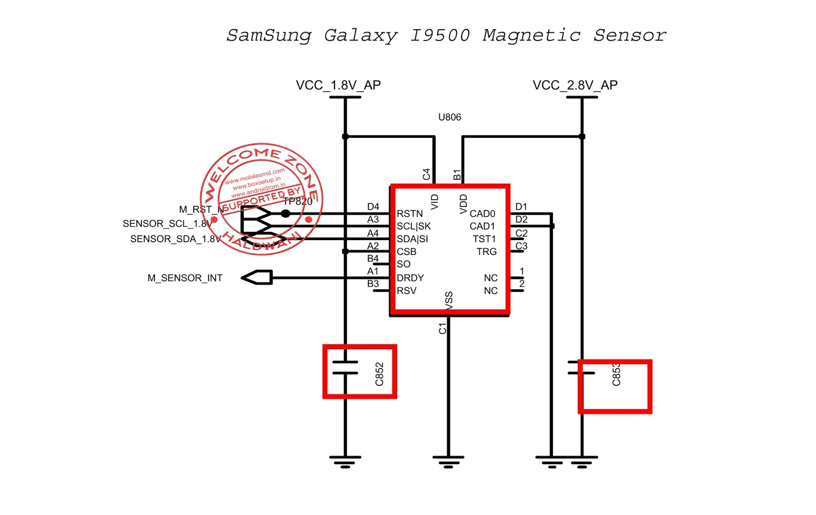 Samsung Galaxy S4 I9500 Magnetic Sensor Part Not Working