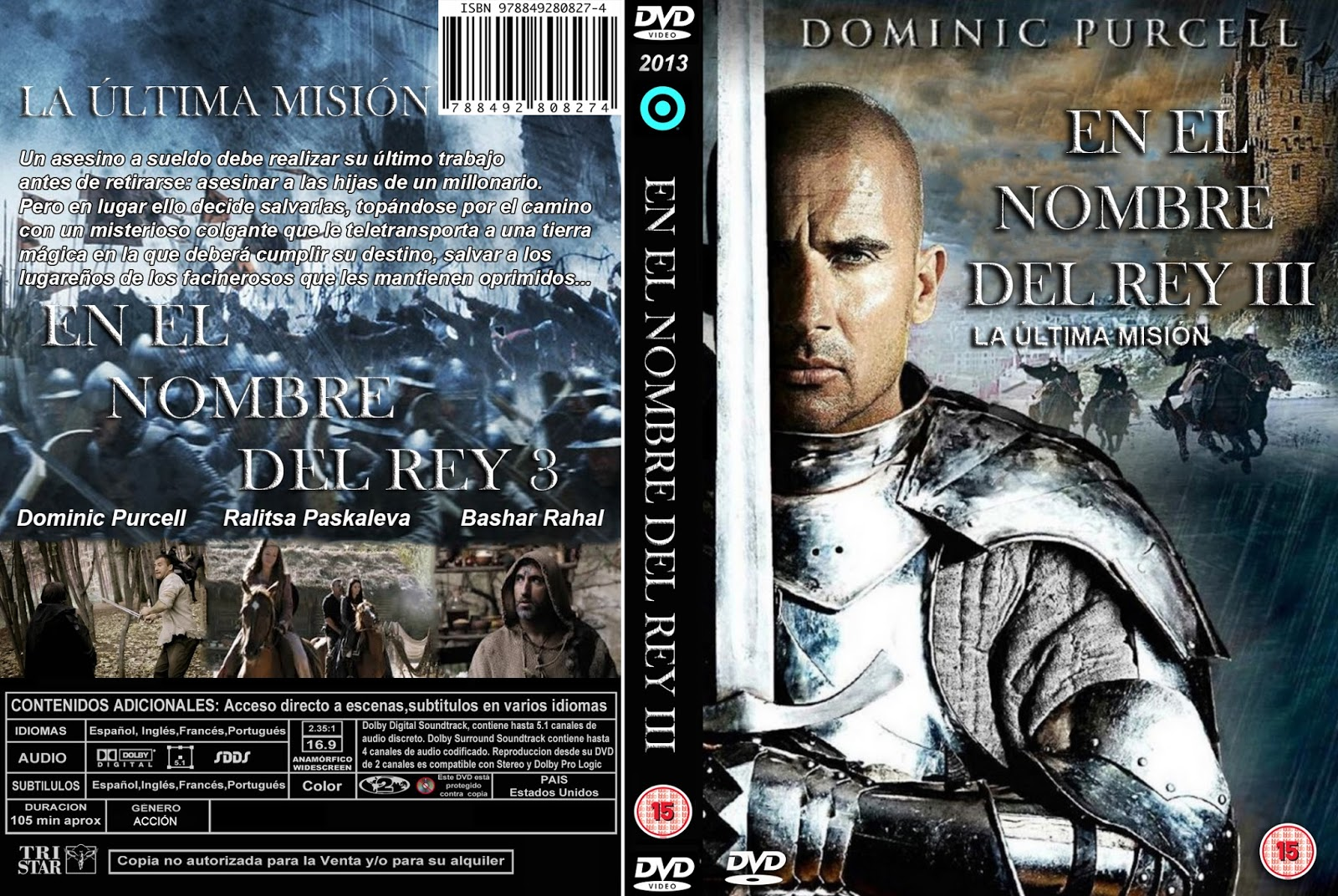 PB | DVD Cover / Caratula FREE: IN THE NAME OF THE KING 3 ...