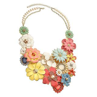Colorful Flowery Necklace