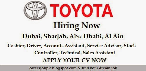 Latest Jobs in Toyota Motor Company UAE