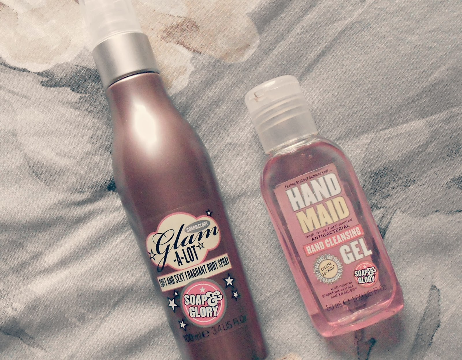 Soap&Glory body spray and hand gel