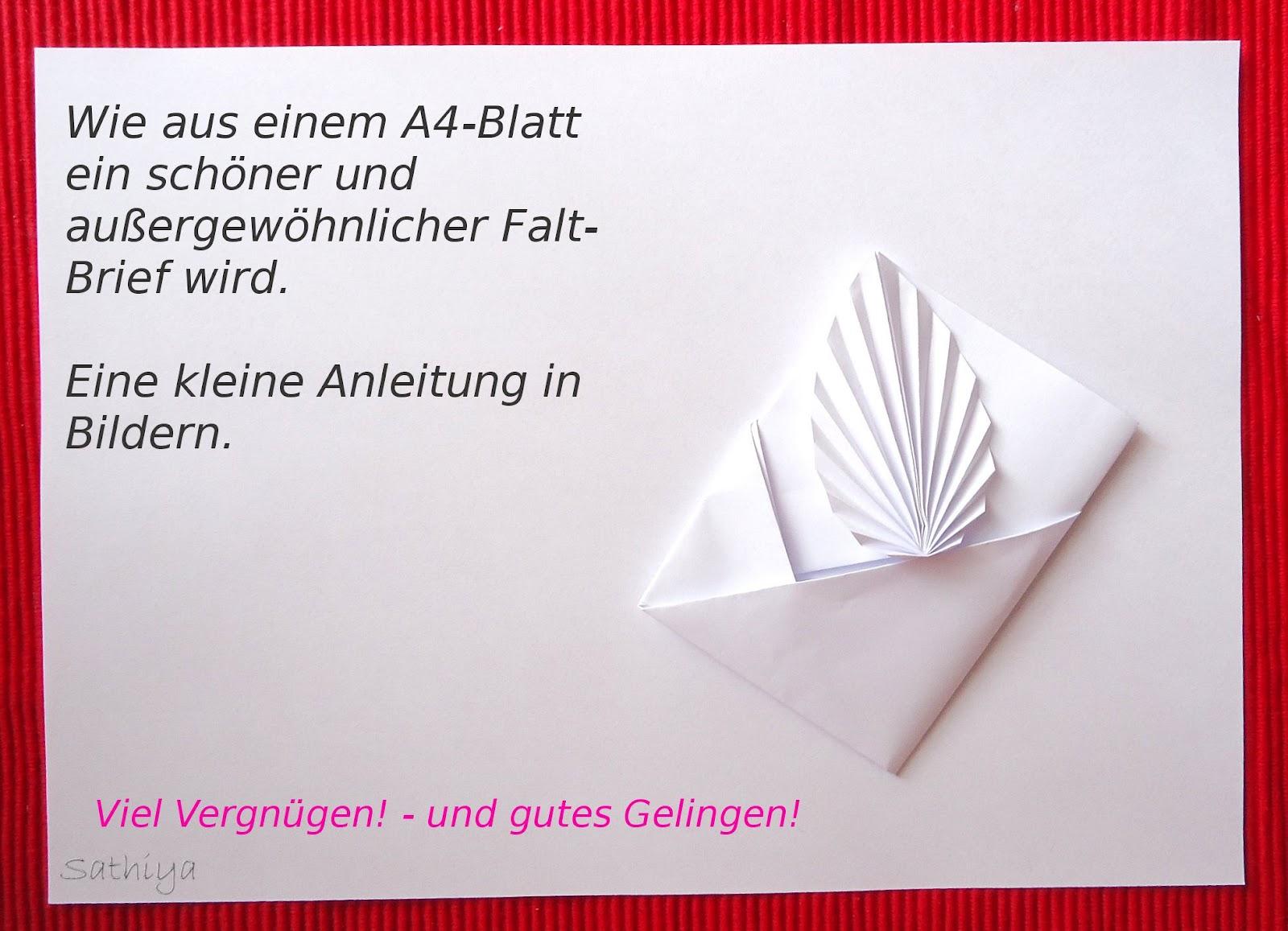 Arten Briefe Zu Falten : Wie samt und seide gefalteter brief origami