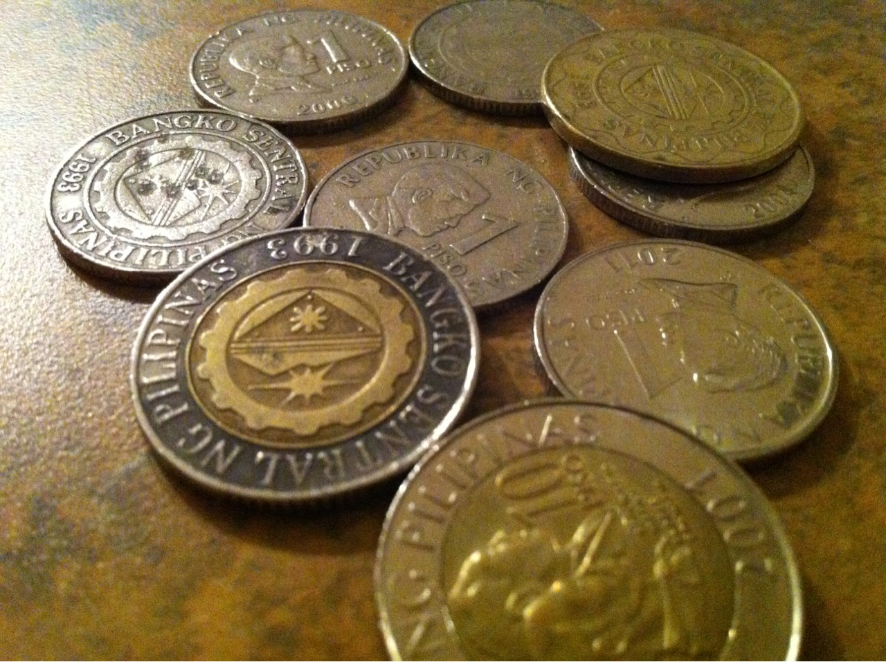 Philippine coins free stock photo