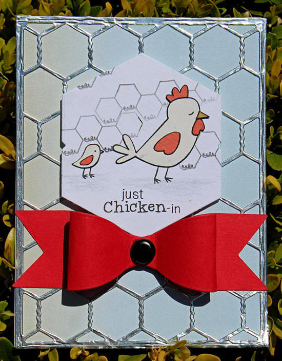 Chicken wire card with Larissa Heskett | Newton's Nook Designs