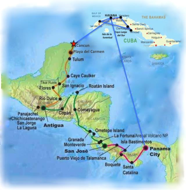 Wanderlust Chloe - Chloe Gunning - Route Plan
