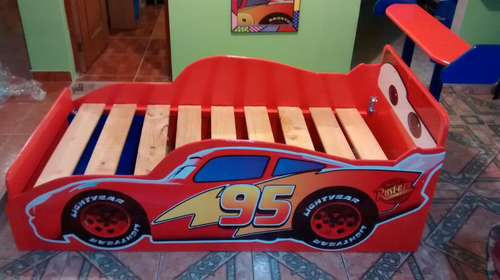 Galeria arte y dise o madekids cama infantil cars rayo mcqueen - Camas infantiles de cars ...