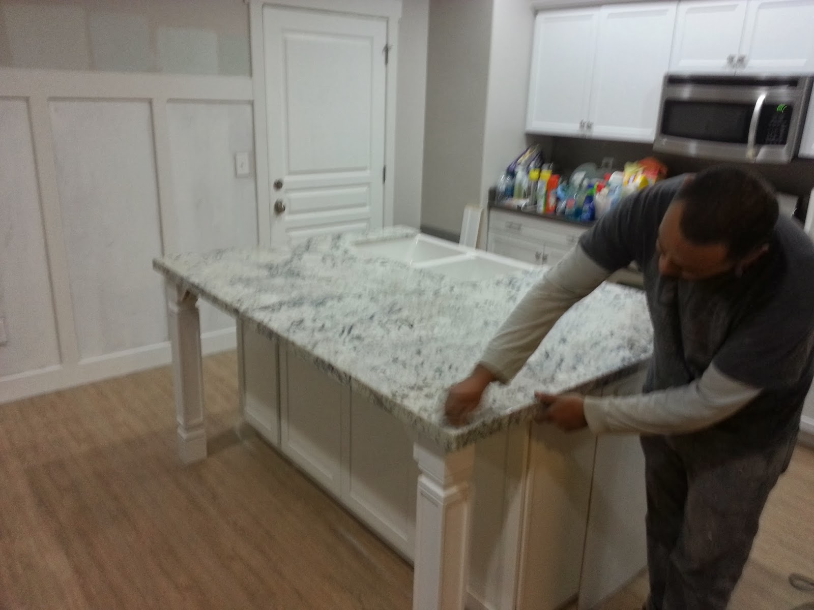 White Ice Granite Kitchen Affordable Custom Cabinets And Granite Countertops