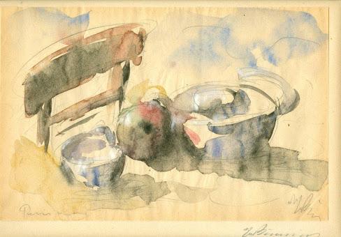 Γιώργος Μπουζιάνης«ΝΕΚΡΗ ΦΥΣΗ ΜΕ ΡΟΔΙ ΚΑΙ ΣΚΕΥΗ»//παρίσι 1931
