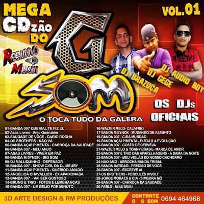 CD DO GSOM O TOCA TUDO VOL.01 TECNOMELODY 2015 LANÇAMENTO