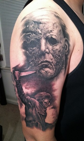 A rob zombie film a few killer rz halloween tattoos for Michael myers tattoo