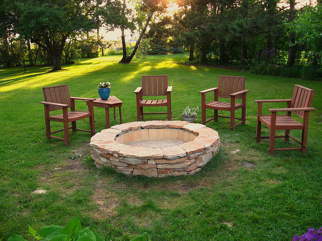 how to make a simple fire pit in your backyard home improvement