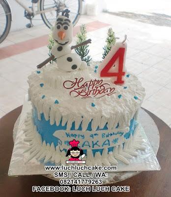 Olaf Frozen Birthday Cake