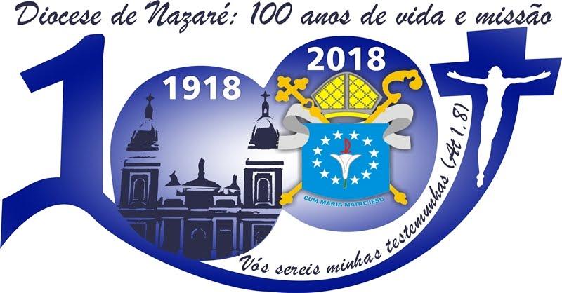 Logotipo dos 100 Anos da Diocese de Nazaré