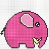 little elephant cross stitch chart