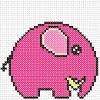 little elephant cross stitch chart