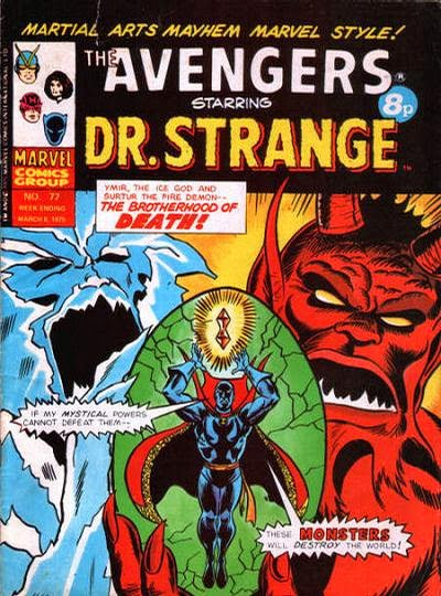 Marvel UK, the Avengers #72, Dr Strange