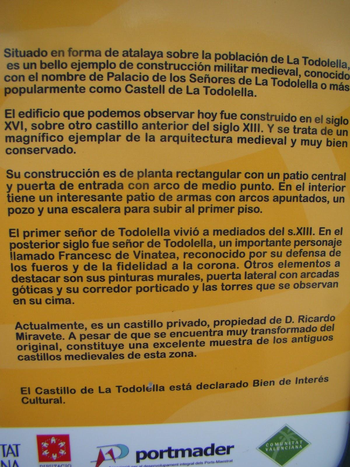 Castillos espa oles castillo de todolella castell n - Ley propiedad horizontal patio interior ...