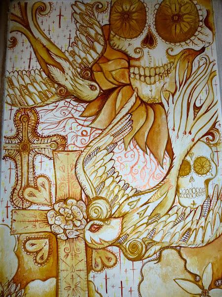Dead Sugar Skull Tattoo Drawing