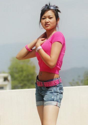 Sexy Nepali Model Alena Gurung