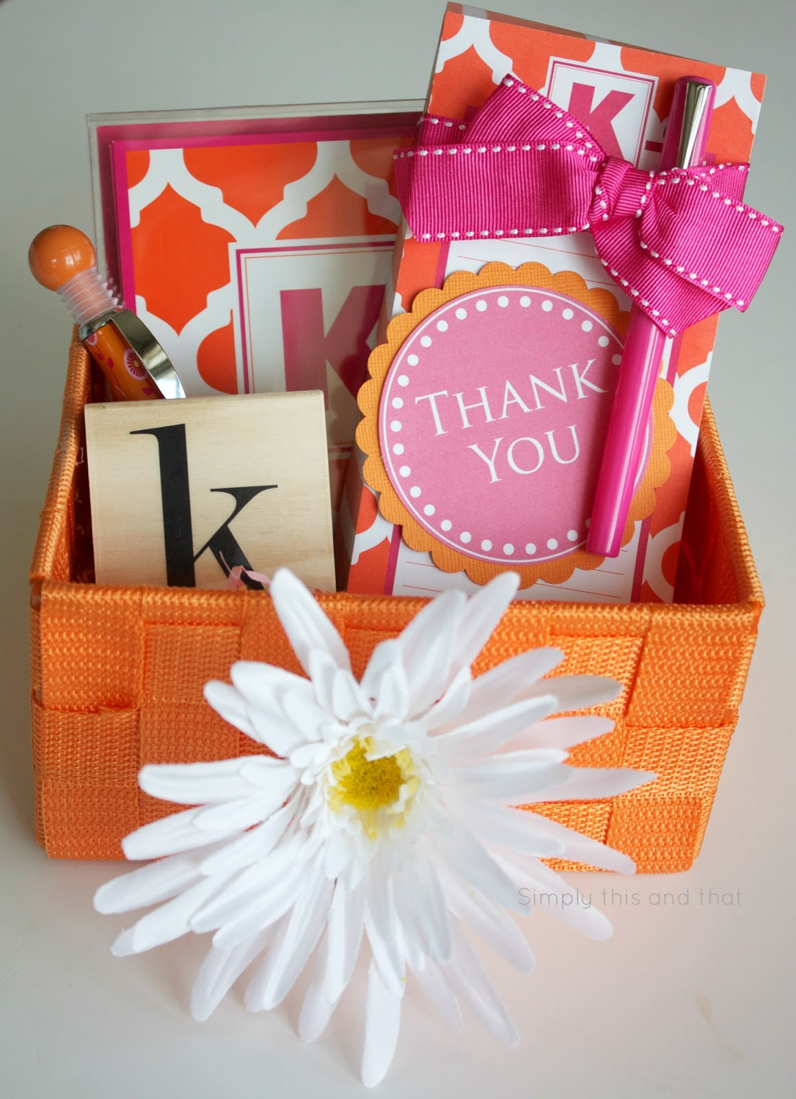 Simply this and that thank you basket printable tag