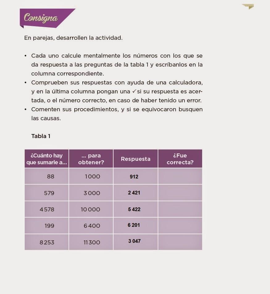 Respuestas ¿Cuánto le falta? - Desafios matemáticos 4to Bloque 5 2014-2015
