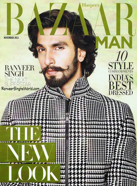 Ranveer Singh's on Harper's Bazaar Cover Nov 2013