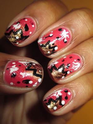 Comic, pow, splatter, sponge, graffiti, Julep Sarah, Felicity, nails, nail art, nail design, mani