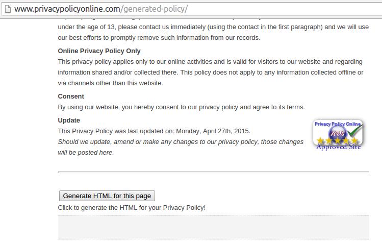 situs membuat privacy policy blogspot