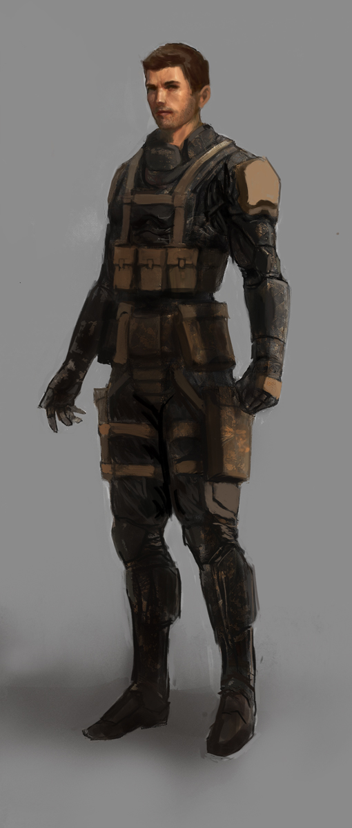Chris De Paoli's Art Blog: Sci fi soldier