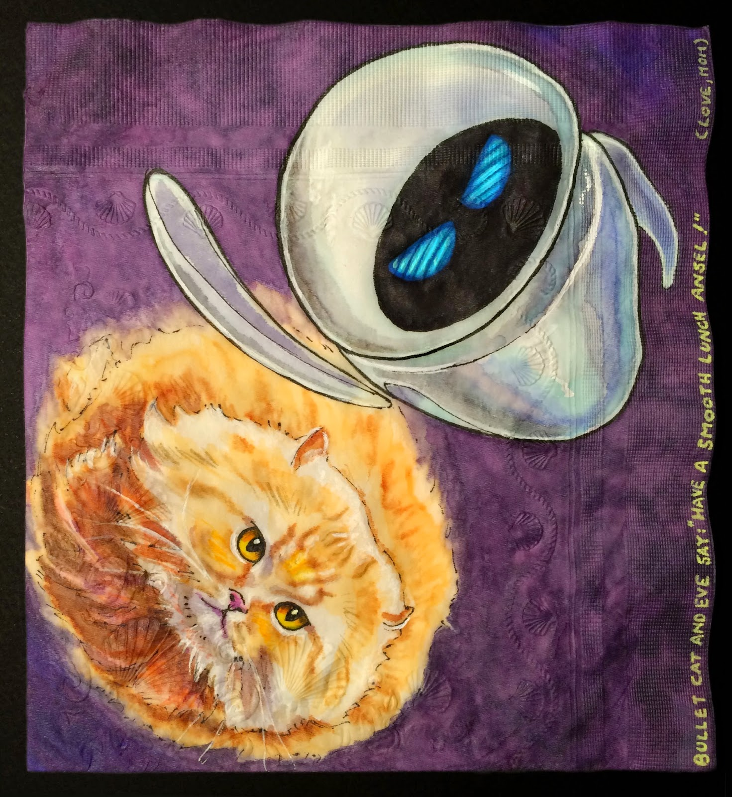 Daily Napkins: Bullet Cat and EVE from \