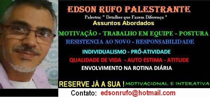 EDSON RUFO - PALESTRANTE