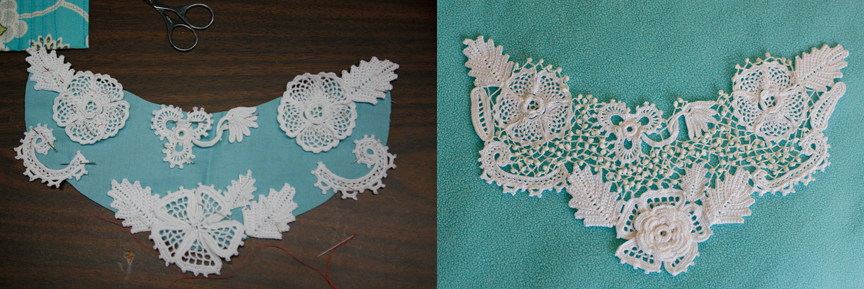 Meaning Of Crochet : Left: motifs laid out on a pattern. Right: motifs joined with size 80 ...
