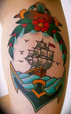 Tatuagem Nautica Estilo Antigo