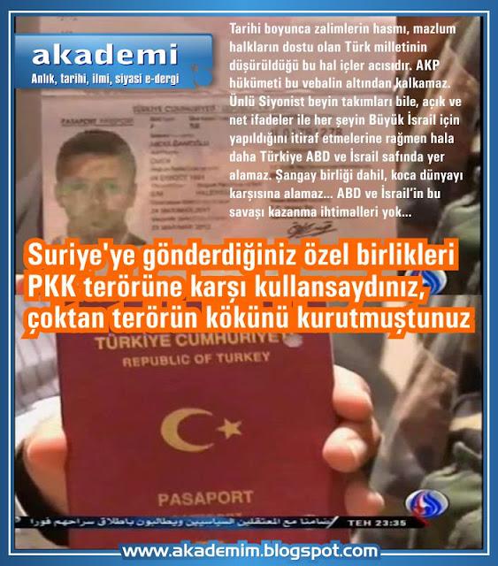 Suriye'ye gönderdiğiniz özel birlikleri PKK terörüne karşı kullansaydınız, çoktan terörün kökünü kurutmuştunuz