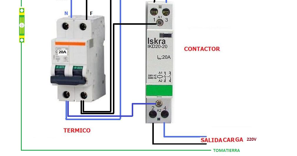 Como conectar contactor bipolar esquemas el ctricos for Como instalar un estor plegable