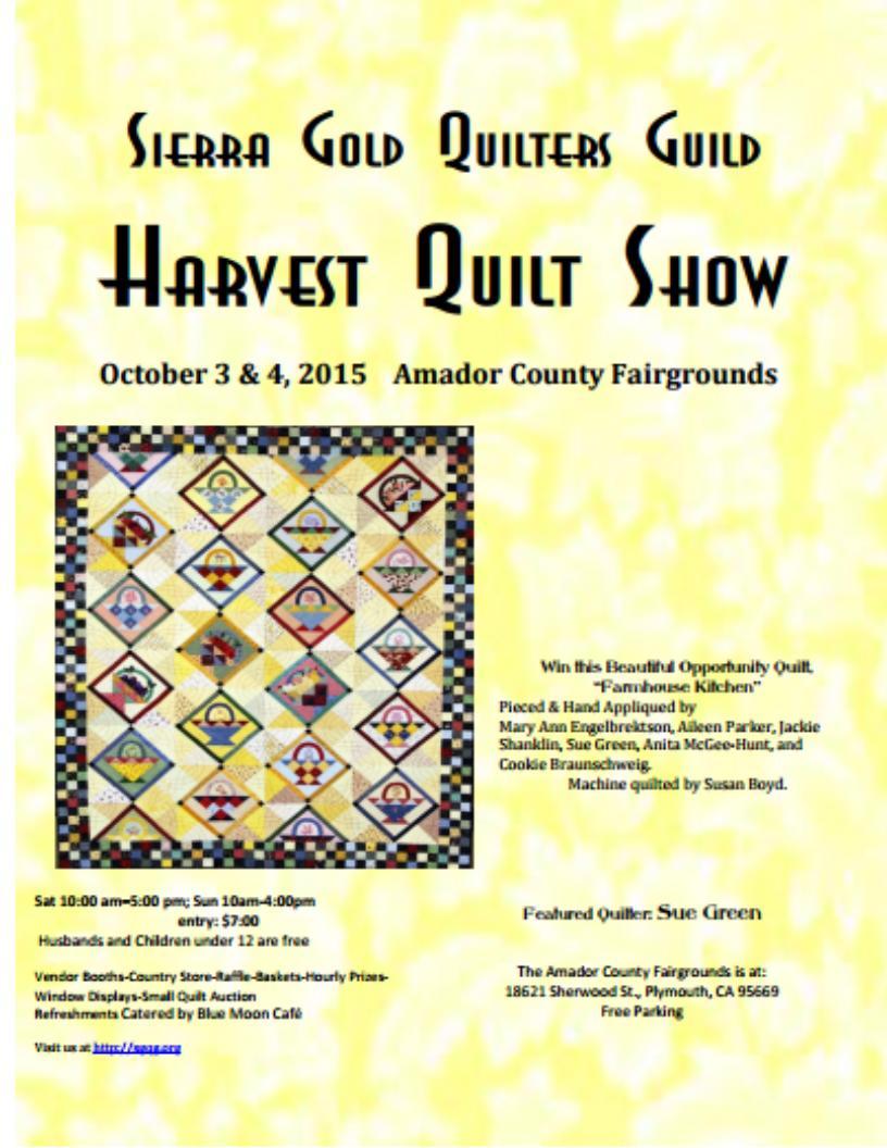 Harvest Quilt Show - Oct 3 & 4