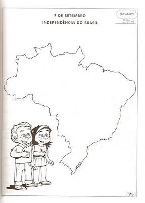 Desenhos e Atividades sobre o dia da independência do Brasil - 7 de Setembro - Colorir e Pintar