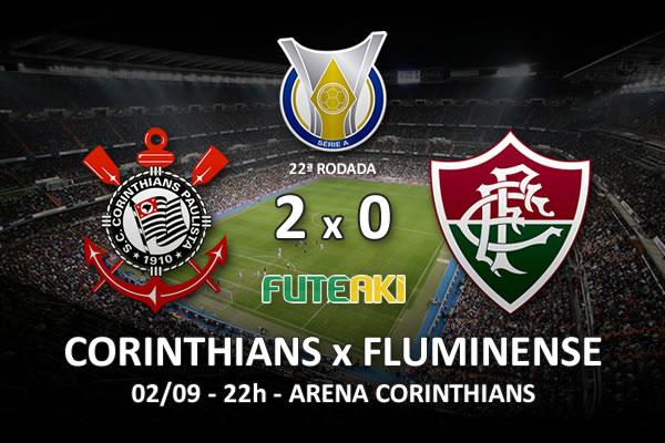 Veja o resumo da partida com os gols e os melhores momentos de Corinthians 2x0 Fluminense pela 22ª rodada do Brasileirão 2015.